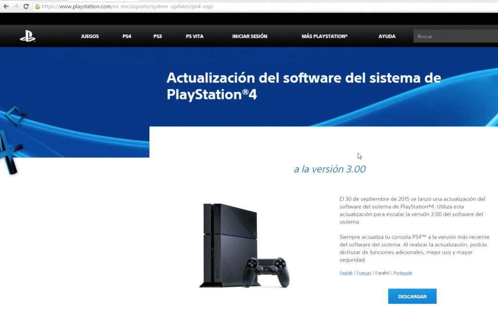 Disponible actualización 3.15 para PS4 (PS4 Update 3.15)