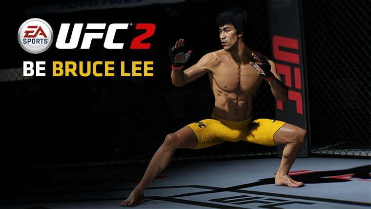 Bruce Lee nos esperará al completar el modo carrera de UFC 2