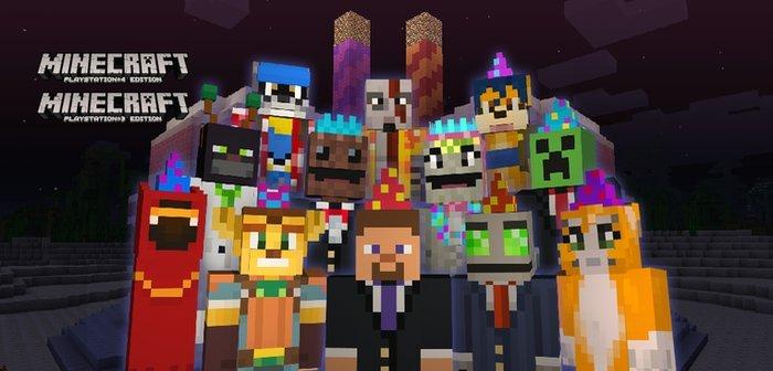 Minecraft regala Skins para celebrar el segundo aniversario con PlayStation